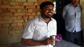 Mr Kumar is a candidate for the Communist Party of India. (Getty Images)
