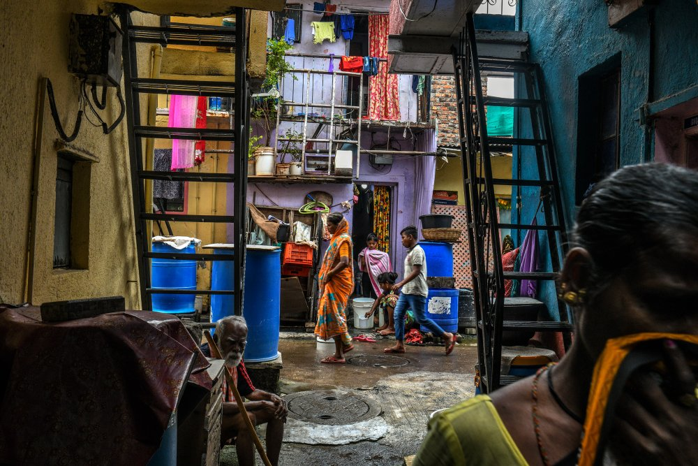 The Tadiwala Chawl area of Pune emerged as a COVID-19 hotspot. (Atul Loke for TIME)